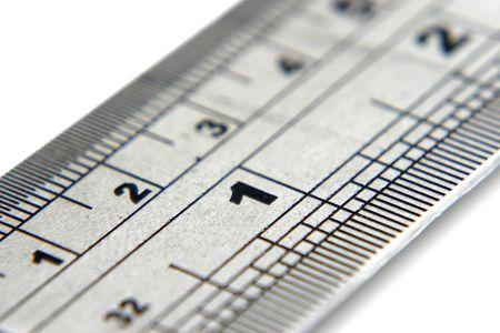 Close up of ruler