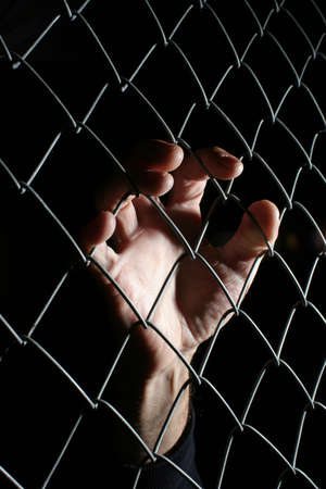 Hand on wire Stock Photo - 375841