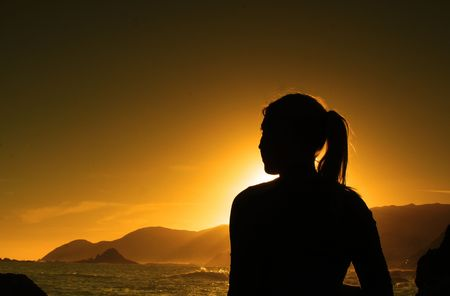 sunset silhouette Stock Photo - 375843