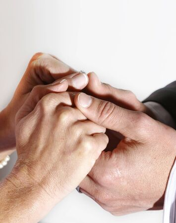 Married couple holding hands Stock Photo - 402746