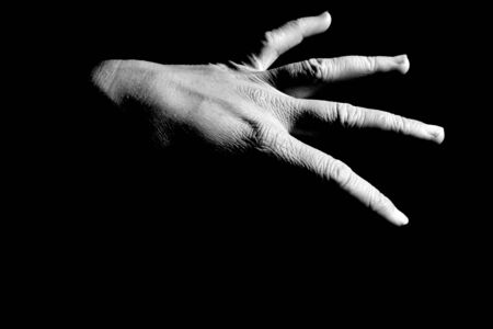 Black and white hand Stock Photo - 402752
