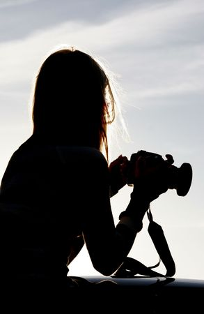 Silhouette of photographer Stock Photo - 409327