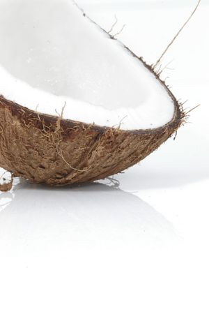 Part of coconut shell Stock Photo - 409317