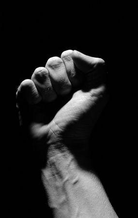 Black and white Fist Stock Photo - 472754