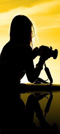 Sunset Silhouette of photographer