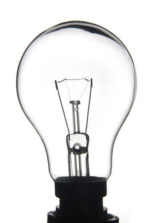 White lightbulb on a white background
