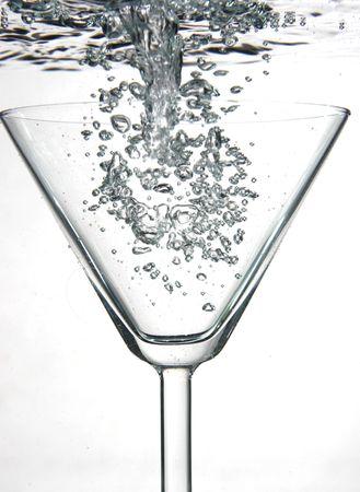 Full Martini glass Stock Photo