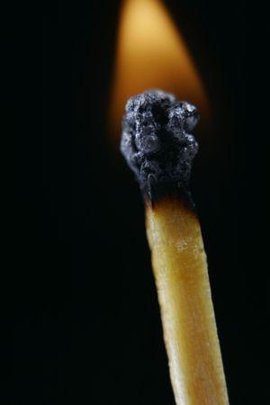 Match head on fire