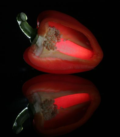 Glowing pepper Stock Photo