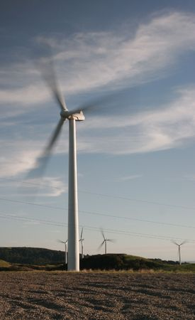 Wind turbine in motion Stock Photo - 566714