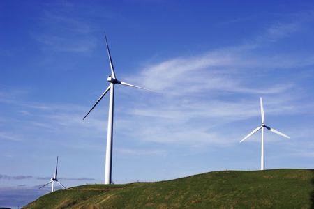 Windfarm against blue sky Stock Photo - 571974