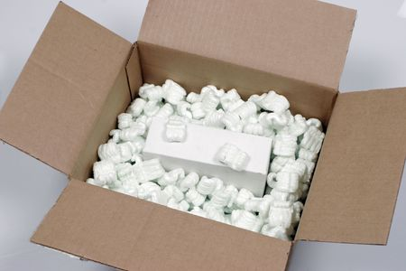 Brown box with packaging and box inside ready to ship Stock Photo - 572051