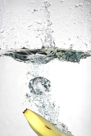 Banana splashing into water Stock Photo - 571963