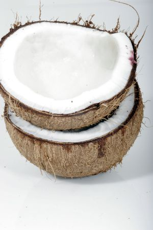 Two coconut halves Stock Photo - 589482
