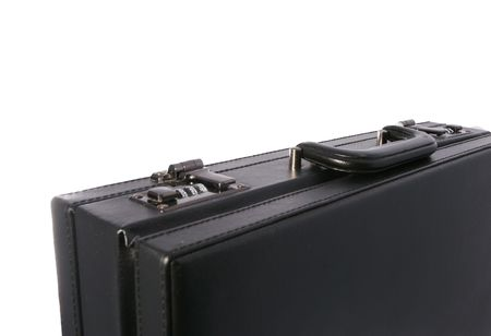 Black business briefcase isolated on white background Stock Photo