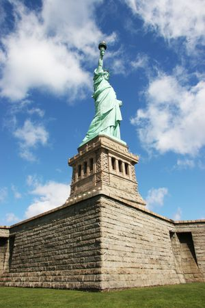 Statue of liberty view from below photo