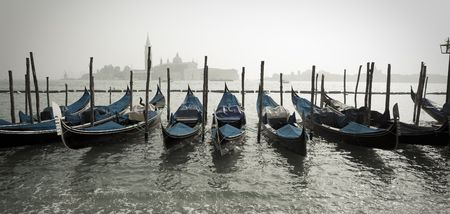 Row of Gondolas in Venice Italy Stock Photo - 6061922