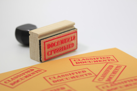 Classified Document Stamp photo