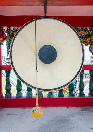 Chinese traditional gong in the temple photo