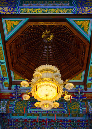 chandelier in the Chinese temple photo