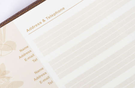 listings: brown address book