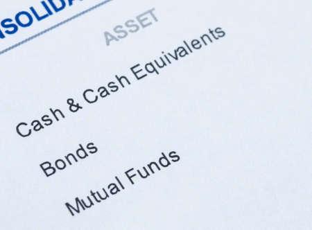 allocation: close up shot of portfolio investment