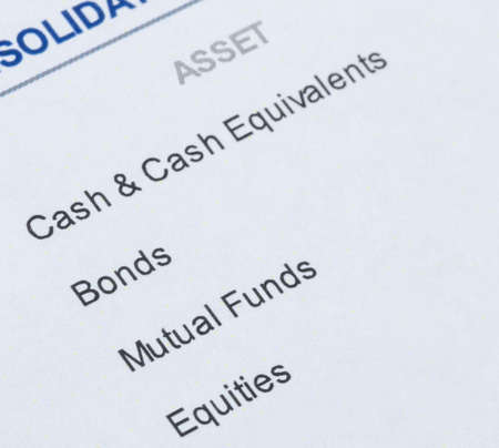 allocate: close up shot of portfolio investment