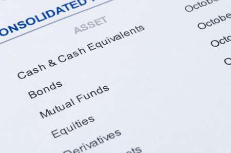 close up shot of portfolio investment