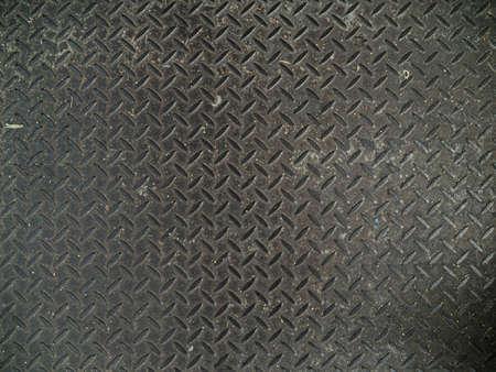 Motif de texture de plaque de sol en acier diamant.