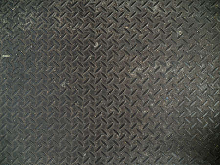 Patrón de textura de placa de piso de acero de diamante.