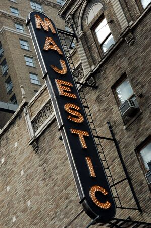 Majestic sign, New York