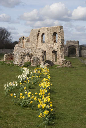 The ancient ruins of Greyfriars Friary, Suffolk