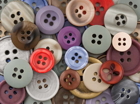 Abstract image of mixed colourful sewing buttons Stock Photo