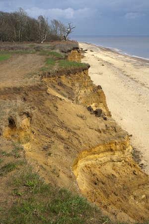 Coastal erosion at Benacre Cliffs, Suffolk