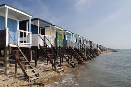Beach Huts at Thorpe Bay, near Southend-on-Sea Stock Photo - 12986529