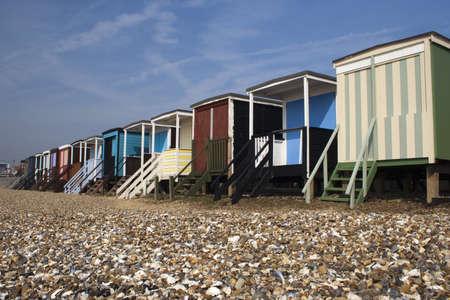 Beach Huts at Thorpe Bay, near Southend-on-Sea Stock Photo - 12986530
