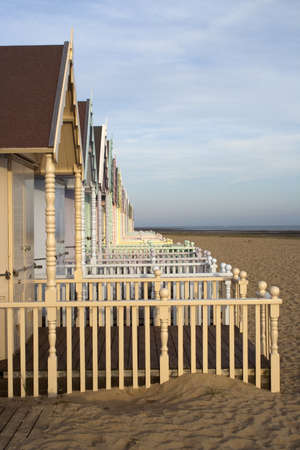 Beach Huts at West Mersea in Essex photo