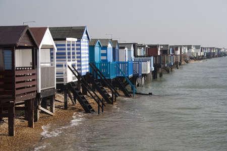 Beach Huts at Thorpe Bay, near Southend-on-Sea Stock Photo - 12973999