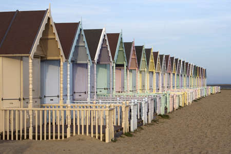 mersea: Beach Huts at West Mersea, Essex