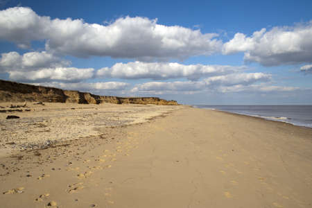 Coastal erosion at Benacre Beach in Suffolk Stock Photo - 12986535