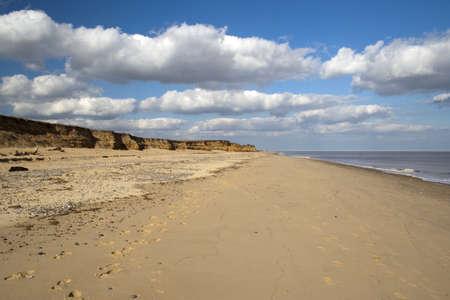 Coastal erosion at Benacre Beach in Suffolk