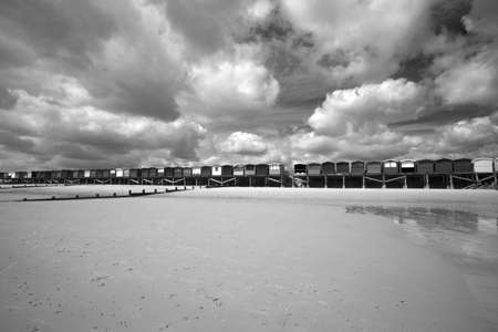 Beach Huts at Frinton, Essex, England photo