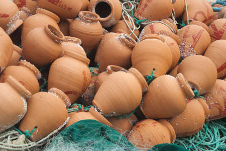 Lobster pots and nets used by Portuguese Fishermen