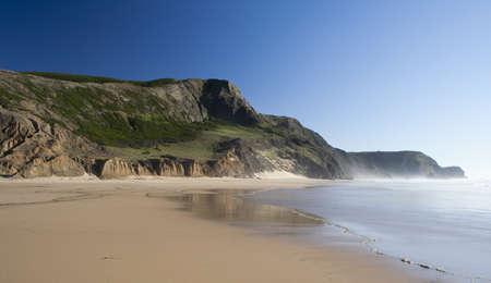 Cordama Beach, on the west coast of the Algarve, Portugal