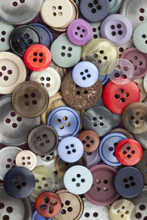 Closeup image of colourful sewing buttons