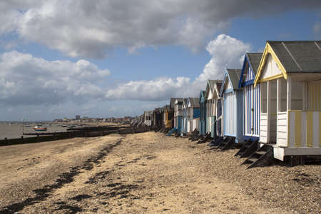 Beach Huts at Thorpe Bay, near Southend-on-Sea, Essex, England photo