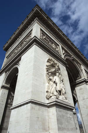 Arc de Triomphe, Place Charles de Gaulle, Paris, France against a blue sky.  Stock Photo - 15329442