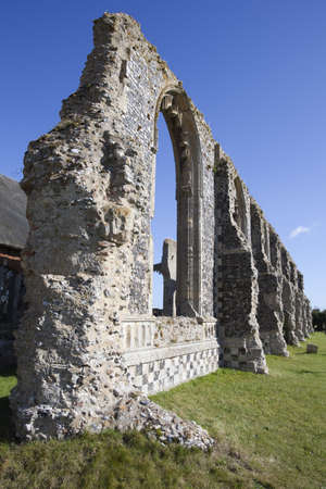 Ruins of St Andrew's Church, Covehithe, Suffolk, England against a blue sky Stock Photo - 15805030