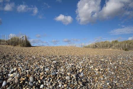 Walberswick Beach, Suffolk, England, on a sunny day