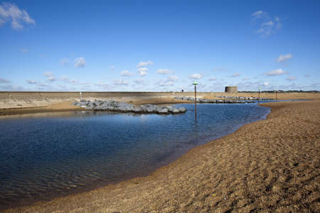 Felixstowe beach and martello tower, Suffolk, England Stock Photo - 16009208